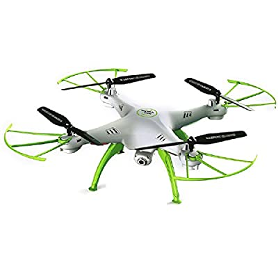 Koiiko Syma X5HW 2.4G 6Axis RC RTF Quad Copter UFO UAV Headless Quadcopter RC with HD 0.3MP WIFI FPV Real-Time Aerial Photo Video Camera, 360 Degree Eversion 3D Rock Roll Spin, Barometer Set Height