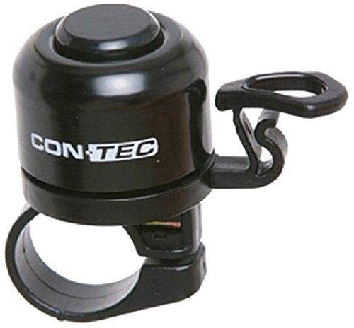Contec Mini Glocke 33mm Fahrrad Klingel Klassisch Lenker Befestigung 22,2mm Bell Ringer, 32092, Farbe schwarz