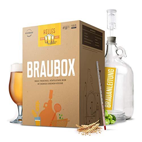 Braubox®, Sorte Helles I Bierbrauset zum Bier brauen in der Küche I mit Erfolgsgarantie von Besserbrauer I Männer I Männergeschenke