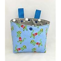 Lenkertasche/Laufradtasche /Bettutensilo aus Baumwollstoff und Wachstuch