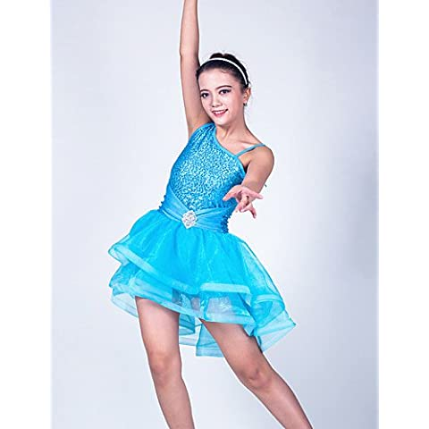 Vestidos ( Azul claro Rosa , Lentejuela Tul Licra , Ballet Danza Moderna Desempeño Sala de Baile ) -Ballet Danza Moderna Desempeño Sala , blushing pink-sc , blushing