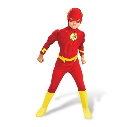 Kostüm Flash Nette - Superheld Kinderkostüm Flash Helden Kostüm Kinder M 5-6 Jahre Blitz Fasching Karneval Outfit Verkleidung