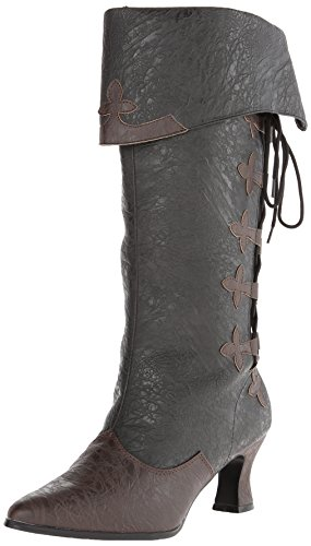 Funtasma Damen viktorianisch, 128 (Victorian-128), Black/Brown Distressed Polyurethane, 37 EU (Distressed Stiefel Fashion)