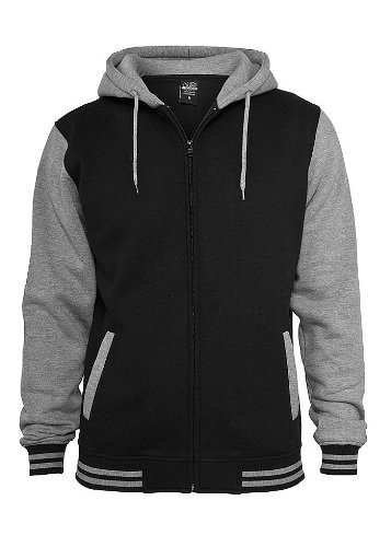 2 Zip-hoody (Urban Classics Two Tone Zip Hoody, black/grey, Größe 3XL)