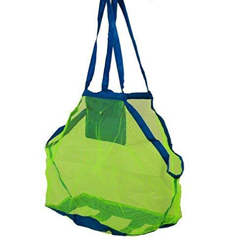 Strand-Tasche Faltbare Mesh-Taschen-Beutel-Speicher-Handtasche für Reisen Schwimmen Bootfahren Strand Rucksack tragen Spielzeug Alle Sand weg Sehr erschwinglich und dauerhaft von Kinderspielzeug