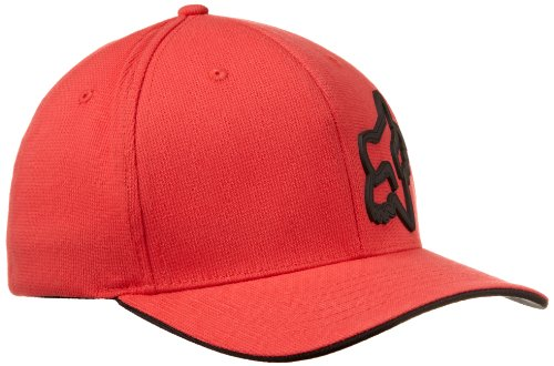 Red Skull Baseball (Fox Herren Cap Signature FlexFit Red, L/XL)