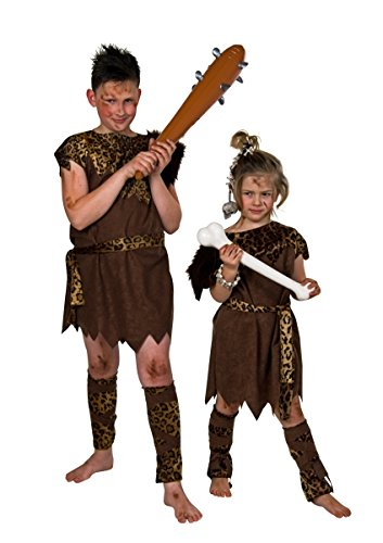 Kinder Karnevalkostüm Steinzeit-Kind, Größe - Steinzeit Kostüm Kinder