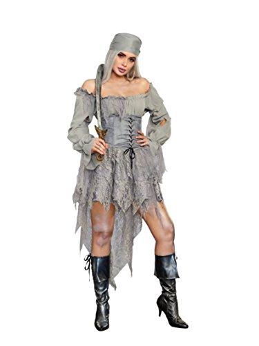 Women's Ghost Pirate Fancy Dress Costume Small (Dress Fancy Womens Pirate)