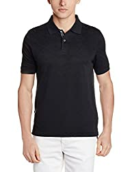 Louis Philippe Mens Polo (8907545001184_LPKP516C04100_L_Black)