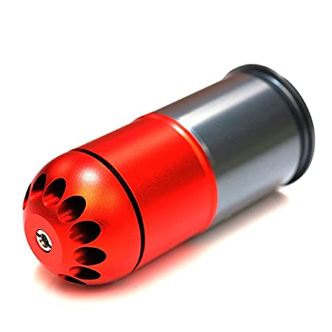 Airsoft Wargame Tactical Shooting Gear SHS 96rd 40mm Grenade Gas Cartridge Shell Red/Grey