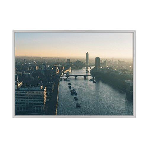 Bild auf Leinwand Canvas-Gerahmt-fertig zum Aufhängen-London UK-westeminster-Bigben-England Dimensione: 70x100cm B - Colore Bianco Moderno - Camden Esszimmer-möbel