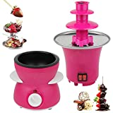 Stainless Steel Electric Chocolate Warmer Fountain Fondue and Chocolate Melting Pot Set