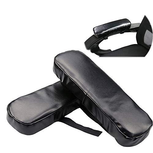 Armlehne Pads:Ergonomisch Gedächtnisschaum Hohe Dichte Anti-Rutsch Armlehnenbezüge.Computer Ellenbogenkissen Armpolster.Für Büro, Spiel, Rollstuhl. Lindert Unterarmschmerzen Ermüdung (2Er-Set) (Stuhl-arm-protektoren)