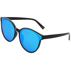 AMZTM Gafas de sol ojos de gato polarizadas para mujre, espejo lente reflectante grande, protección UV 400