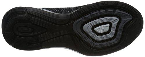 Nike Herren Lunarglide 7 Flash Laufschuhe Schwarz / Silber (Blk / SLVR-Pr Rflct Pltnm-Drk Gr)