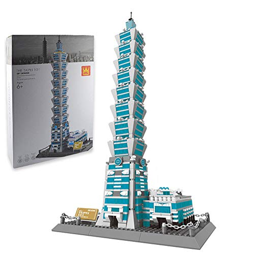 Yyz World Famous Architecture Series Taipei 101 Model Assembling Building Blocks Spielzeug-SGeburtstag Geschenke