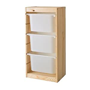 IKEA TROFAST - combinaison de stockage, le pin blanc, - 44x30x91 cm