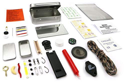 Be-Creative Mini-Survival-Dose, für Outdoor-Aktivitäten, Wandern, Pfadfinder, Militär-Notfall-Set -