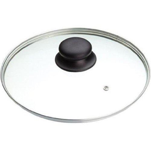 ibili 970722 Prisma Couvercle Acier Inoxydable/Verre/Plastique Transparent/Argent/Noir 22 x 22 x 10 cm