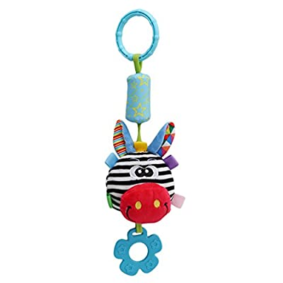 Lalang Clip on Pram Toys Baby Pushchair Windbell Toys (giraffe)