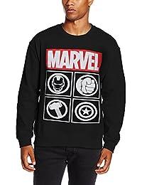 Marvel Avengers Icon, Sudadera para Hombre, Negro (Black), Medium