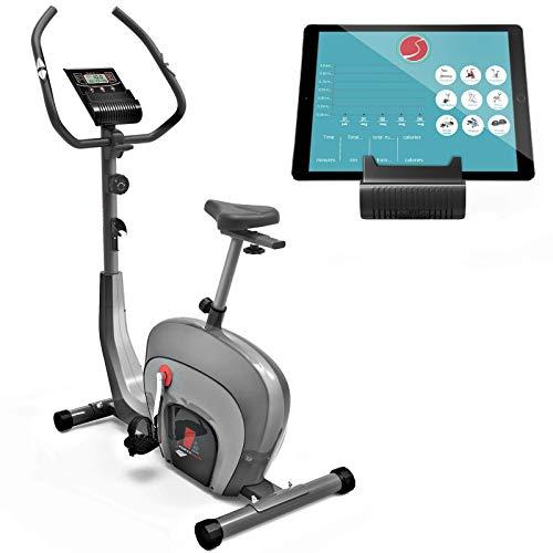 Sportstech ES400 Ergometer Heimtrainer - Smartphone APP Steuerung - 10kg Schwungmasse - Bluetooth - Pulsmesser - Hometrainer mit Magnetbremssystem - Fahrrad-Trainer - Fitness-Bike (Generalüberholt)