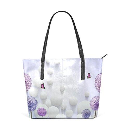 Eslifey Fantasy Dandelion Portemonnaie PU Leder Schulter Tote-Tasche für Damen Mädchen Damen -