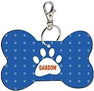 Sky Trends Bone Shape Collar Locket/Pendant for Dogs & Puppy -489, Multicolour, Medium, 1 Count - Sh