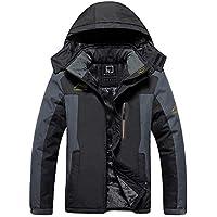 RUNVEL Men's Waterproof Mountain Jacket Windproof Outdoor Multi-Pockets Winter Fleece