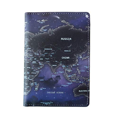 Indigo World Map - Funda para Pasaporte