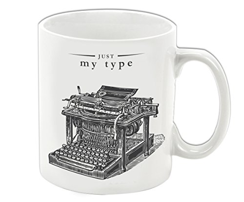 Victoriana Porcelain Mug, Just My Type, Typewriter