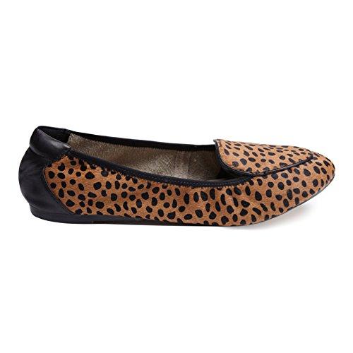 Chaussures Pliantes En Cocorose - Clapham Ballerines Femmes En Cuir Léopard Poney