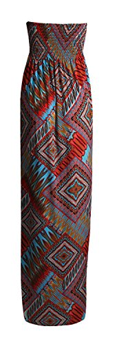 Fast Fashion - Maxi Robe Plus Taille Tie Dye Rayure De Léopard Floral Imprimé - Femme Box Imprimer Rouille