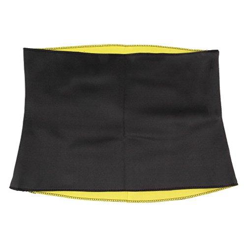 DODOING Unisex Hot Slimming Body Shaper Belt Sport Fitness Waist Cincher Slimming Girdle Belt Schwarz