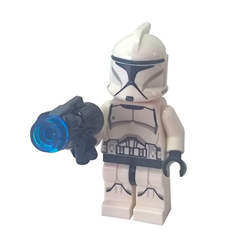 Lego Minifigur Clone Trooper, Bedruckte Beine mit Waffe
