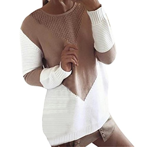 Damen Langarm Cardigan lang Jacke Casual warm Sweater By Dragon (XL, Khaki) (Schwarz-gewebe-heels)