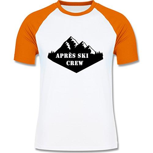 Après Ski - Apres Ski Crew - zweifarbiges Baseballshirt für Männer Weiß/Orange