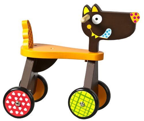 ebulobo T'es Fou Louloup Wooden Wolf Ride on Trike