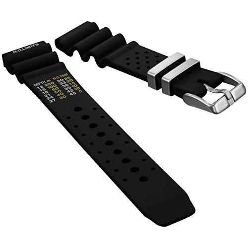 Professionelles Taucheruhrenarmband bei ZULUDIVER®, NDL Modell für Citizen, Schwarz 20mm