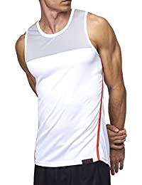 Sundried Mens Running Vest by Sleeveless Gym Training Technical Tank Top