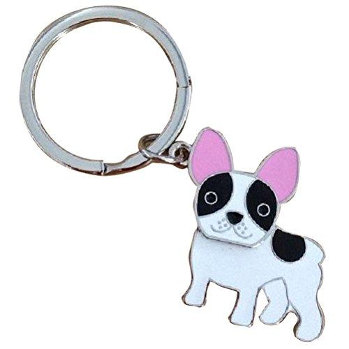 Funny Pets Französische Bulldogge Schlüsselanhänger aus Metall