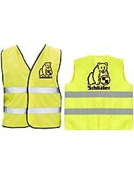 Schlüter Warnweste | Sicherheitsweste | Gelb | Brust- und Rückendruck