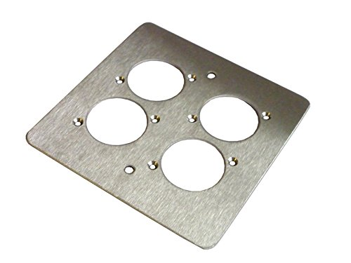 all-metal-parts-4-way-xlr-single-gang-face-plate-brushed-stainless-pc
