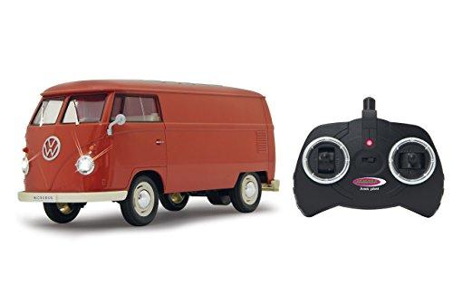 Jamara 405120 - VW T1 Transporter 1:16 2 Kanal 2,4GHz - LED Beleuchtung, detailgetreuer Innenraum, Fahrzeugdetails in Chrom: Scheibenwischer, Radkappen,Außenspiegel, Türgriffe,Scheinwerfereinfassungen