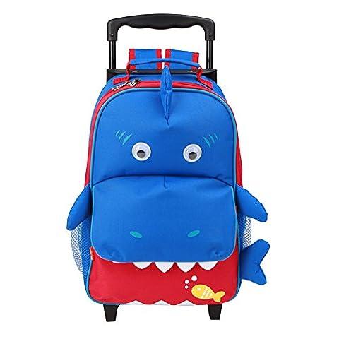 Yodo Sac à dos 3 voies ou sac à dos, grande poche avant avec accès rapide pour les collations ou les bibelots, pour les enfants de 3 ans et +, Multi Shark 4-6 ans