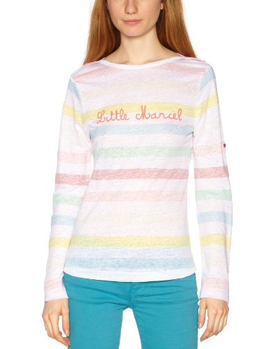 Little Marcel - Maglietta, donna Multicolore (Multicolore (244 Fb)) XL