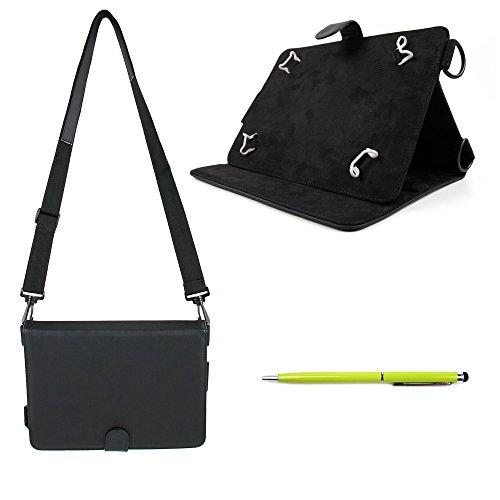Elegante Tasche mit Gummis und Schultergurt und gelber Stylus für HUAWEI Tablet-PCs. Kompatibel mit: MediaPad M3 Lite 10 (180 Deal Monday Cyber)