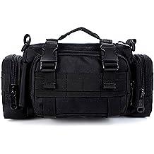 Yihya Militare multifunzionale Nylon bag Tactical Marsupio Tattico Messenger Zaino Bag Zaino di Assalto per (Multifunzionale Del Mens Cinturino)