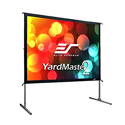 Elite Screens Yardmaster 2 Dual, 135-inch 16:9, Front/Rear 4K Ultra HD Ready Indoor/Outdoor Projector Screen OMS135H2-Dual
