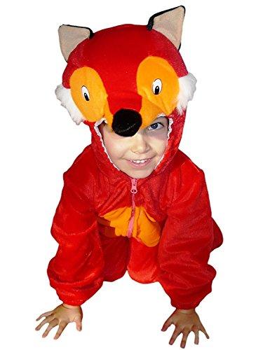 fasching fuchs Fuchs-Kostüm, F21 Gr. 98-104, für Kinder, Fuchs-Kostüme Füchse für Fasching Karneval, Klein-Kinder Karnevalskostüme, Kinder-Faschingskostüme, Geburtstags-Geschenk Weihnachts-Geschenk